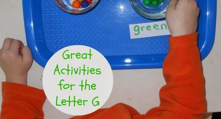Tot time Preschool Letter G