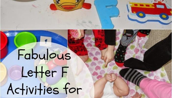 Toddler & Preschool Alphabet Activities for Letter F