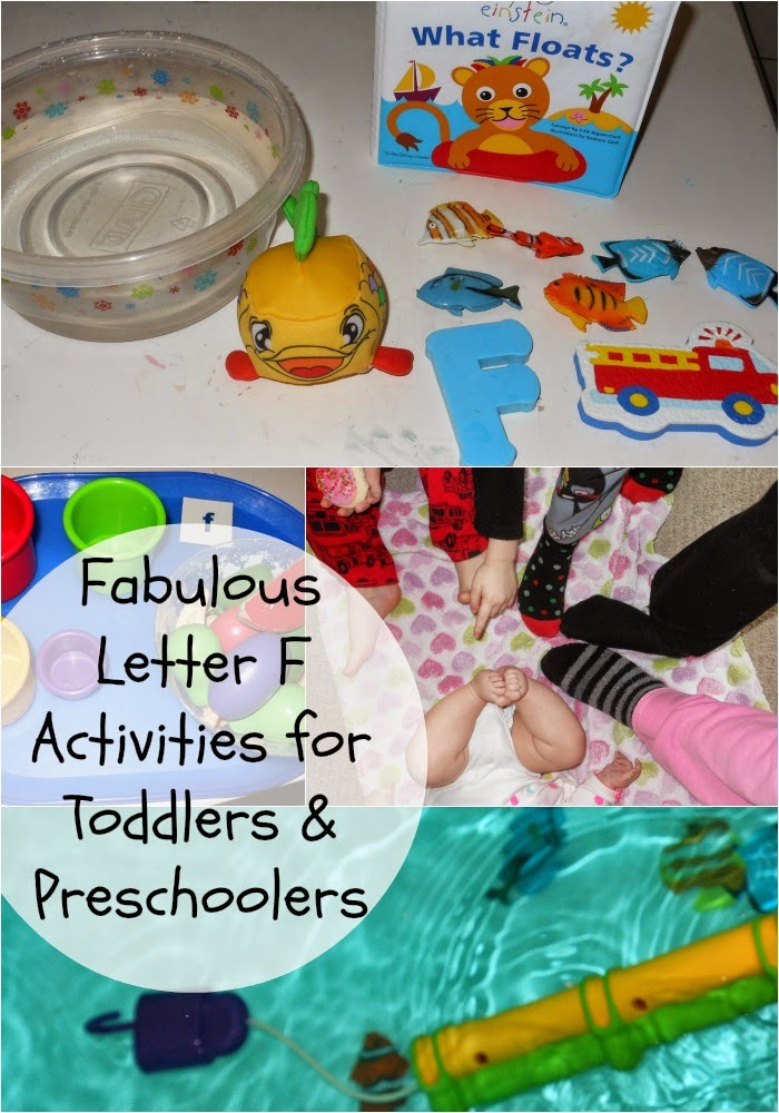 preschool alphabet activities for letter f, fireman, fish, feet, finger puppets and so much more. Hands on learning for toddlers and preschoolers.