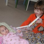 Sibling Reading Time with Little One's at Our House