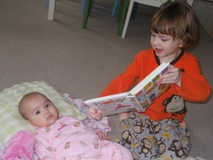 Sibling Reading Time