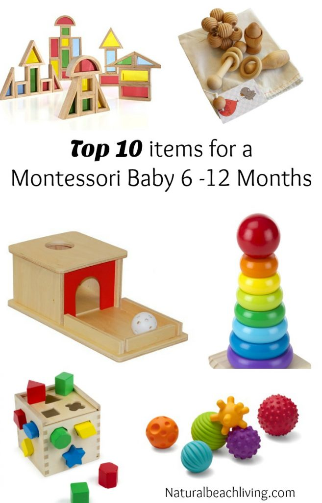 Toys For 6 12 Years : Top ten items for a montessori baby months to year