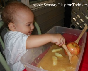 Apple Sensory Play for Toddlers