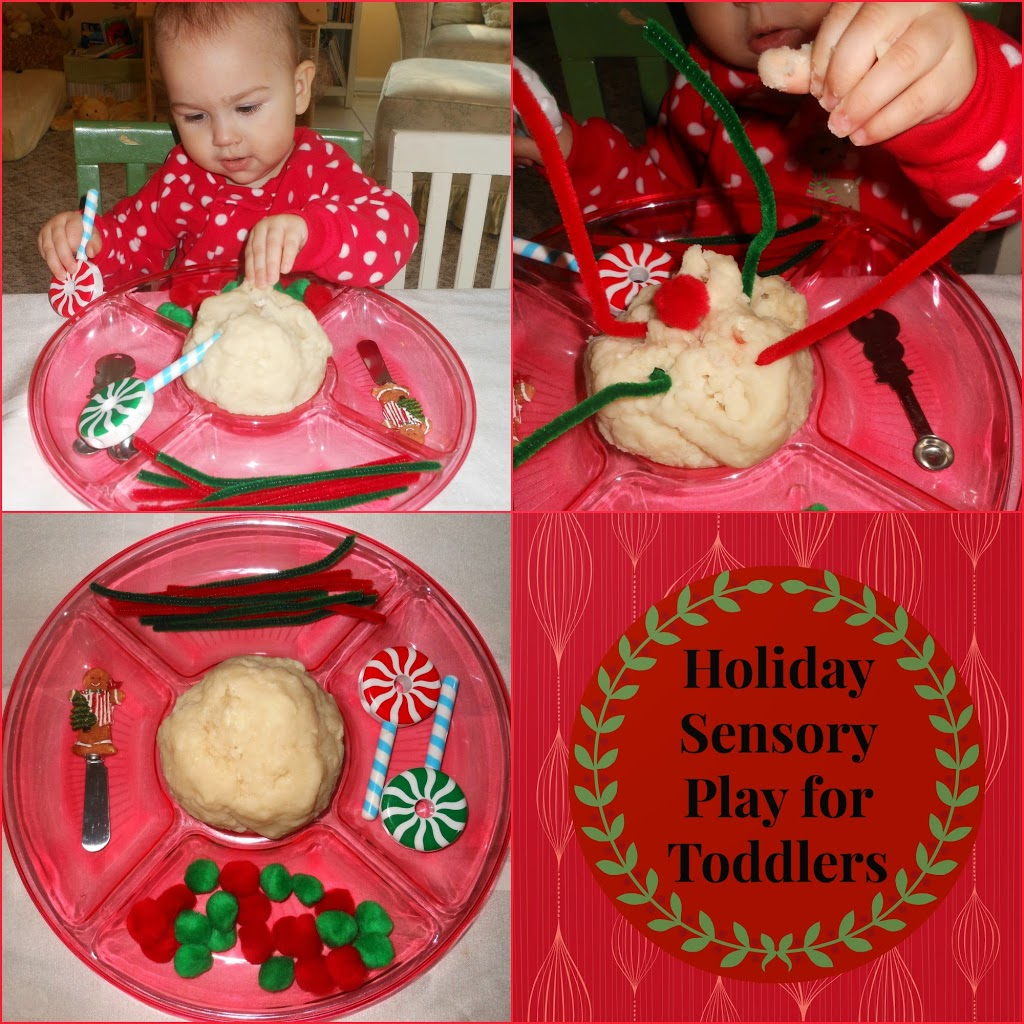 Toddler Sensory Play with Natural Play dough
