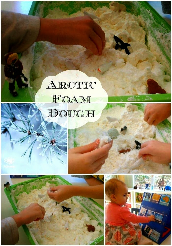 Super Cool Arctic and Antarctica Frozen Foam Dough