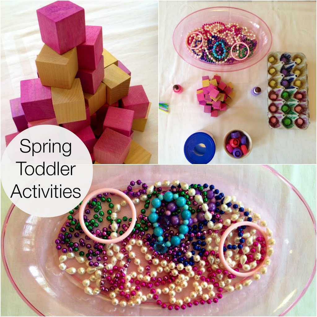 perfect spring DIY toddler activities, homemade blocks, Montessori activities, fine motor skills, sensory play and more www.naturalbeachliving.com