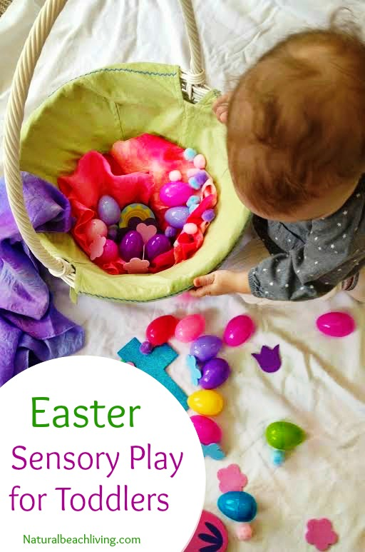 Non-candy Easter Basket Ideas, Toddler Sensory play,