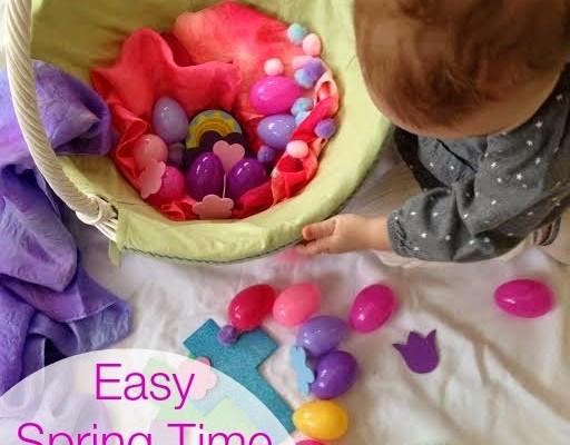 Springtime Easter Sensory Play Basket for Toddlers