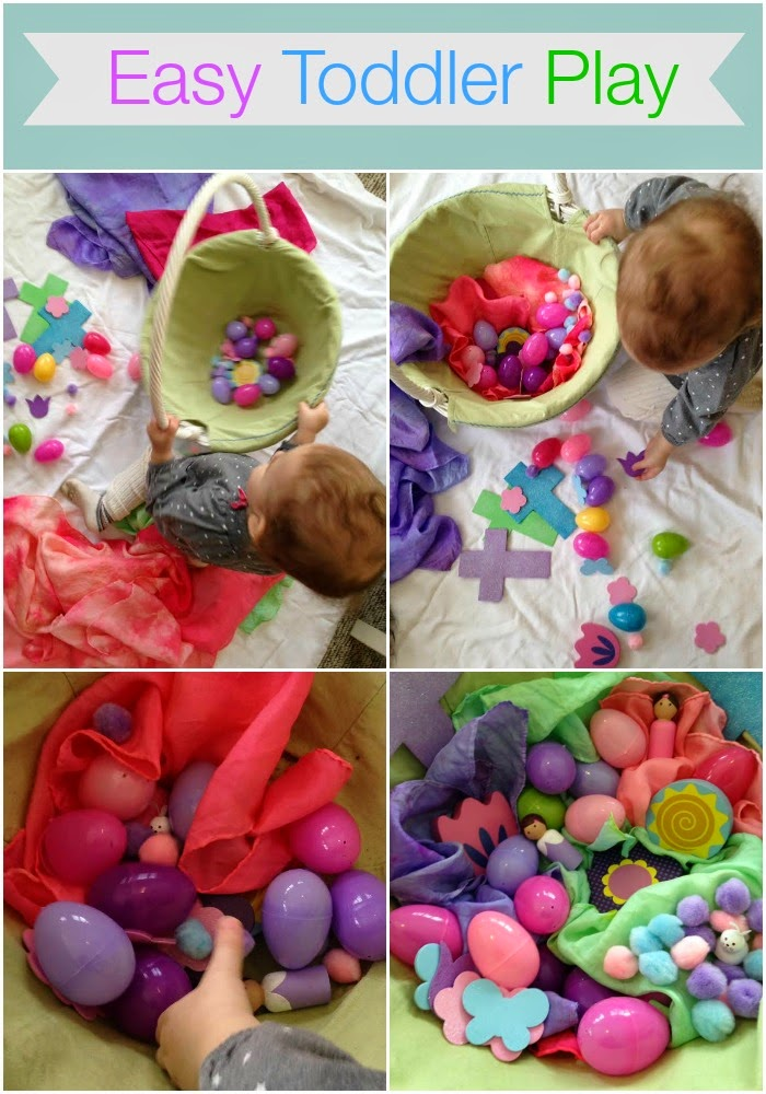 Spring Time Easter Basket Sensory Play
