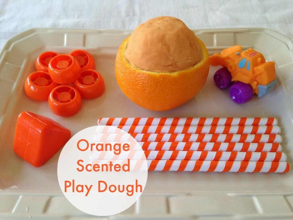 Orange Scented Natural Play Dough