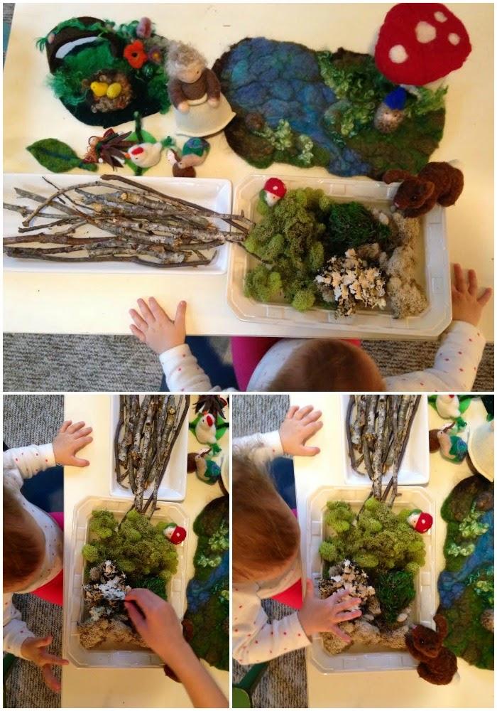 Reggio Emilia, Reggio nature table, Spring, Natural materials, Sensory Play, Waldorf, Nature, Montessori, Nature Area,Kids spaces www.naturalbeachliving.com
