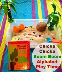 Chicka Chicka Boom Boom Alphabet Sensory Play