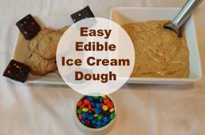 Easy Edible Ice Cream Dough Sensory Play