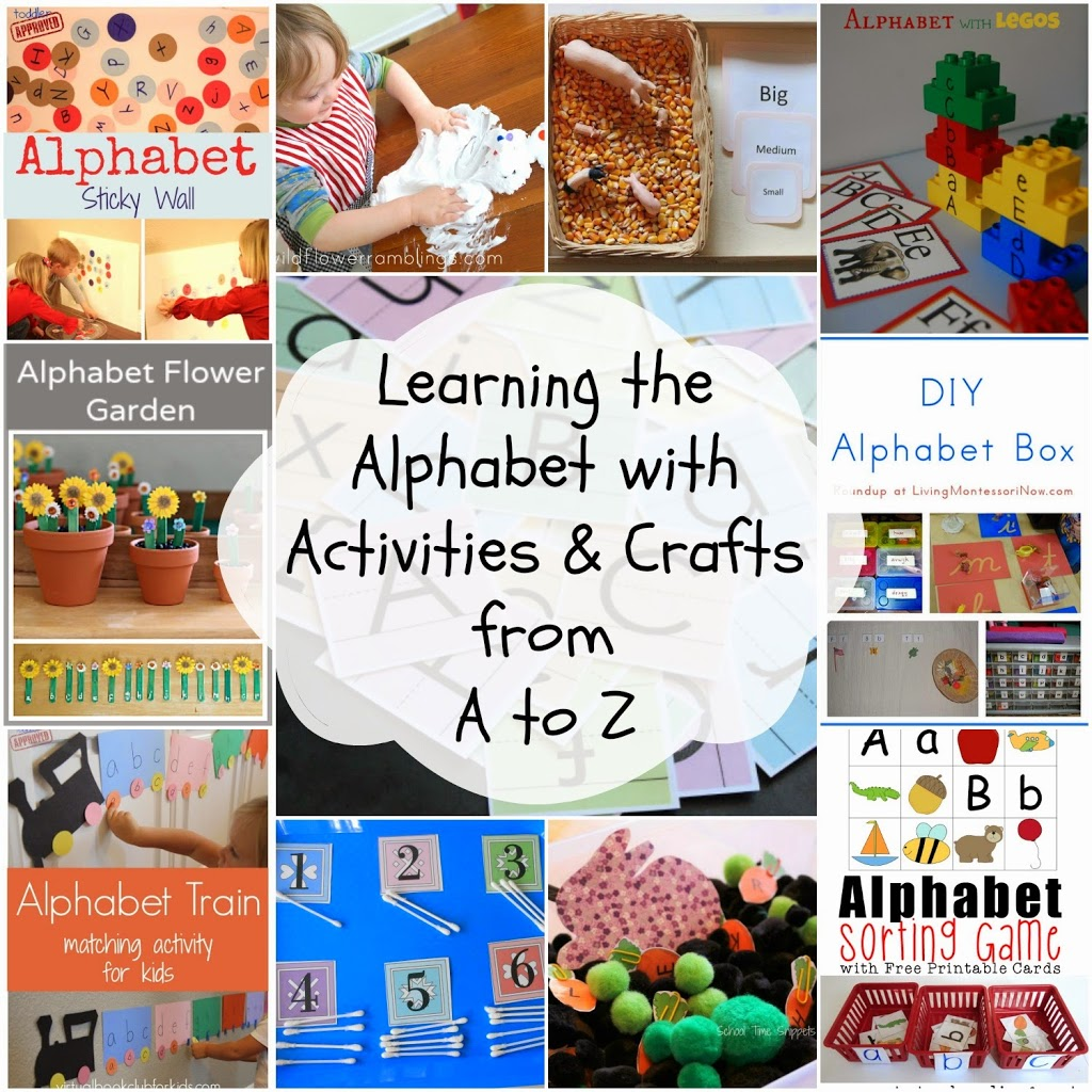 100 of the Best Ways to Teach the Alphabet, Creative ways to teach the alphabet, Hands on Learning, Sensory Play, Printables, Alphabet Games,Alphabet Crafts