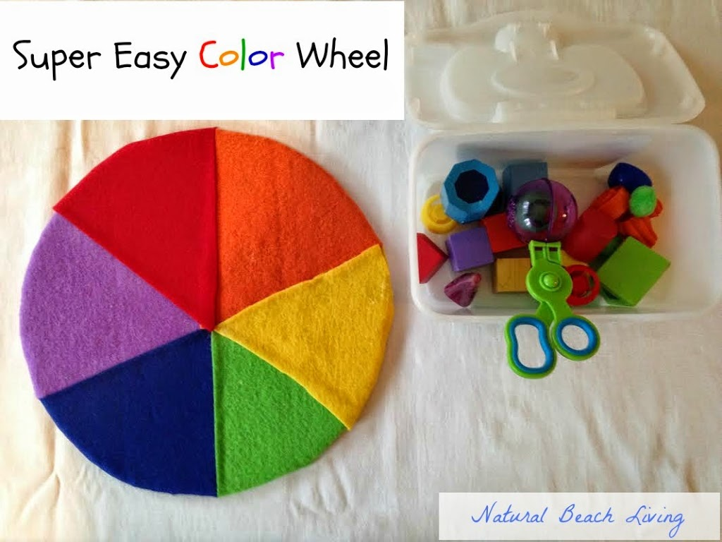 Activities for colors for toddlers - Diy Color Wheel Teaching Colors To Toddlers Toddler Color Activities Lots Of Great