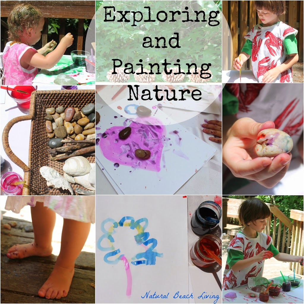 Exploring in nature, art, free range learning, unschooling, Reggio, peaceful parenting, natural living, natural materials, www.naturalbeachliving.com