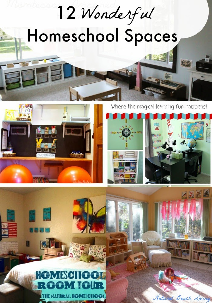 Tour 12 Fabulous Homeschool Rooms, Montessori , Waldorf, Hands on learning, Super cool ideas and inspirational kid spaces.