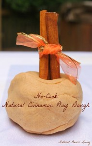 No Cook Natural Cinnamon Play Dough