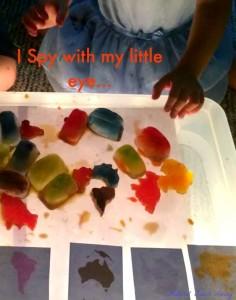 Montessori Inspired I Spy Continents