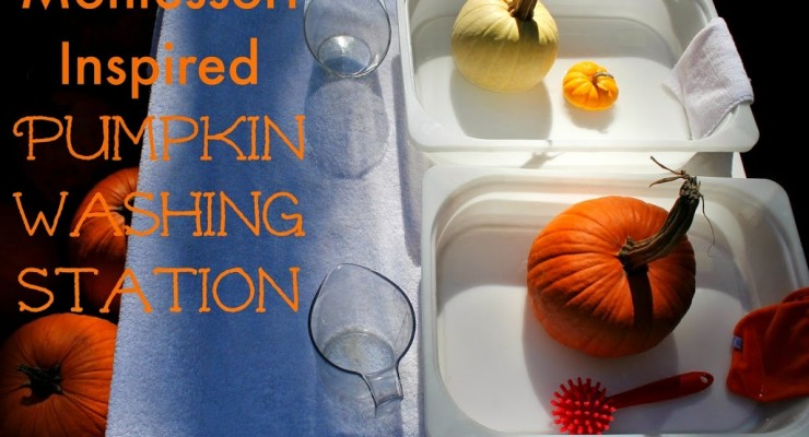 Montessori Pumpkin Washing Station