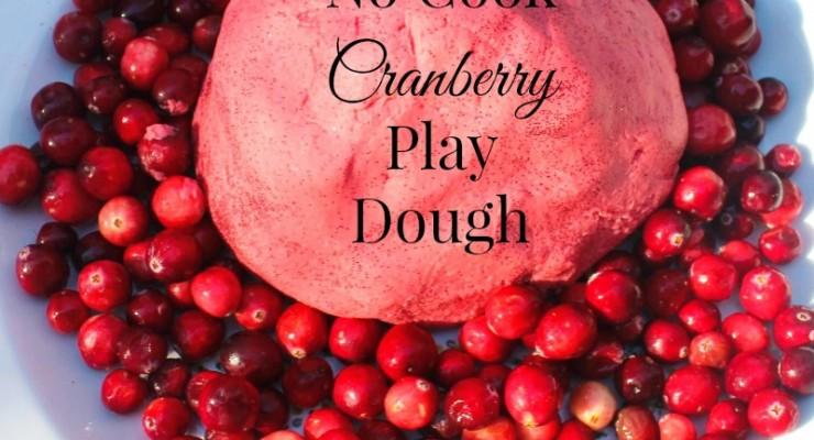 Easy No Cook Christmas Cranberry Play Dough