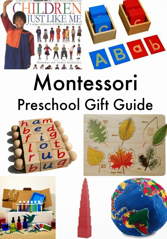 The Best Montessori Preschool Gift Guide from sensory to Geography books and language perfect for Montessori Preschool, Montessori at Home, Language, practical life, Math and so much more. www.naturalbeachliving.com