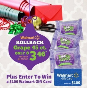 $100 Walmart Giveaway with Boogie Wipes & Kandoo