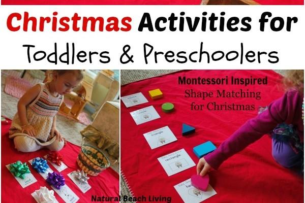 Easy Christmas Activities for Toddlers & Preschoolers
