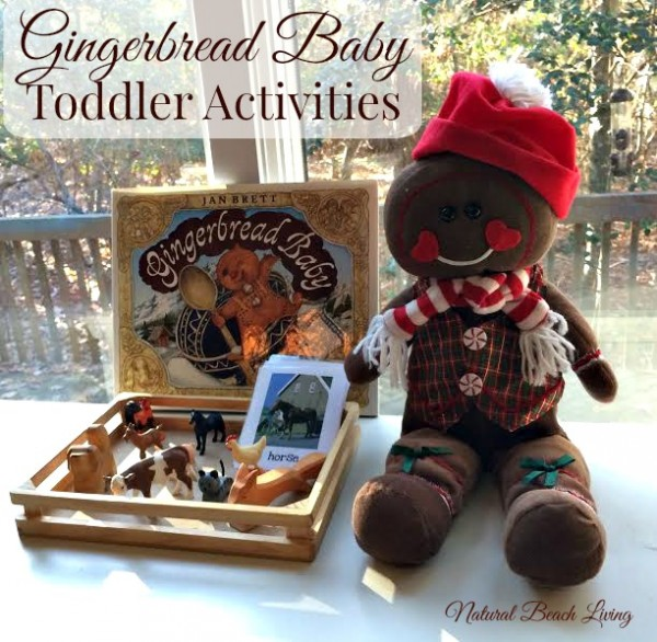 Montessori Inspired Gingerbread Baby by Jan Brett Activities, Toddlers, Books, crafts, matching and more www.naturalbeachliving.com