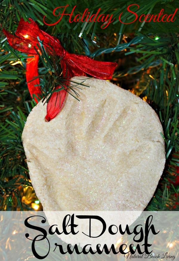 Scented Salt Dough Handprint ornament , sensory play, homemade, www.naturalbeachliving.com