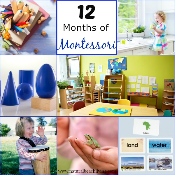 12 months of Montessori learning series, Maria Montessori www.naturalbeachliving.com