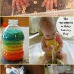 Baby Sensory Play with Cereal