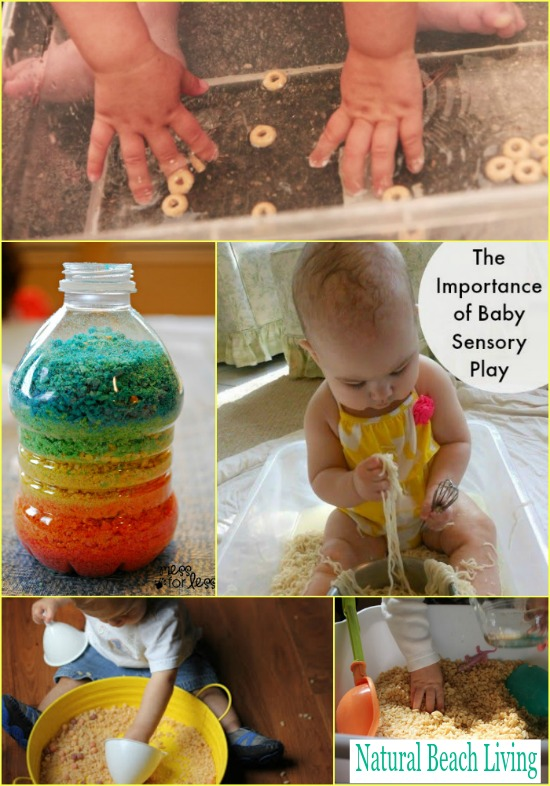 Baby Sensory Play with Cereal – Sensory Bins for Babies