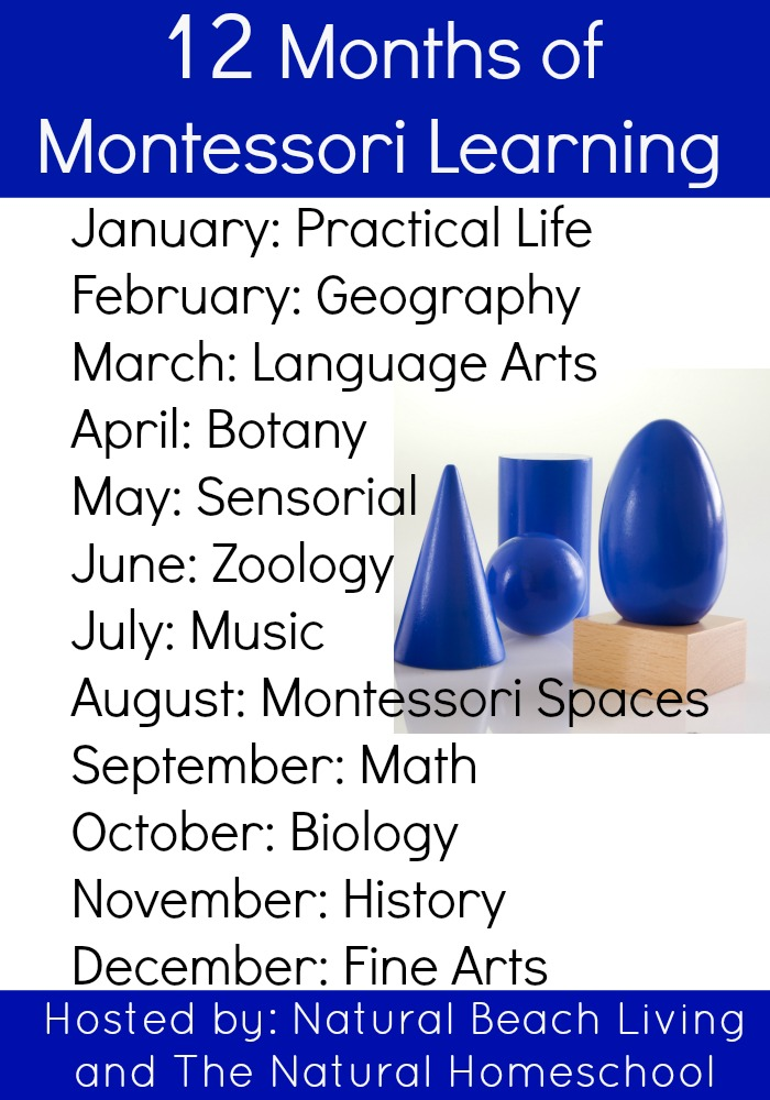 12 months of Montessori learning from www.naturalbeachliving.com