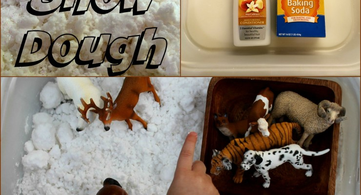 The Snowy Day Snow Dough Play