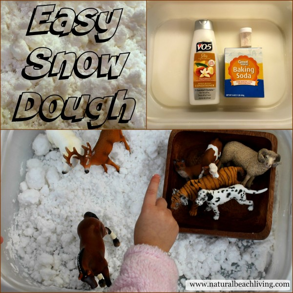 The Snowy Day Snow Dough Sensory Play