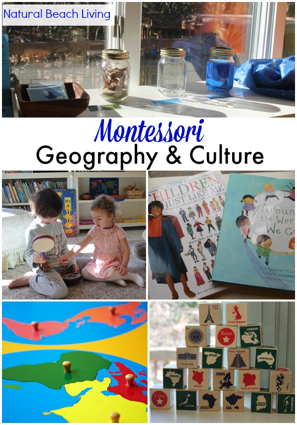 Montessori geography and Culture, Montessori Activities, books, Set-up and Free Printables