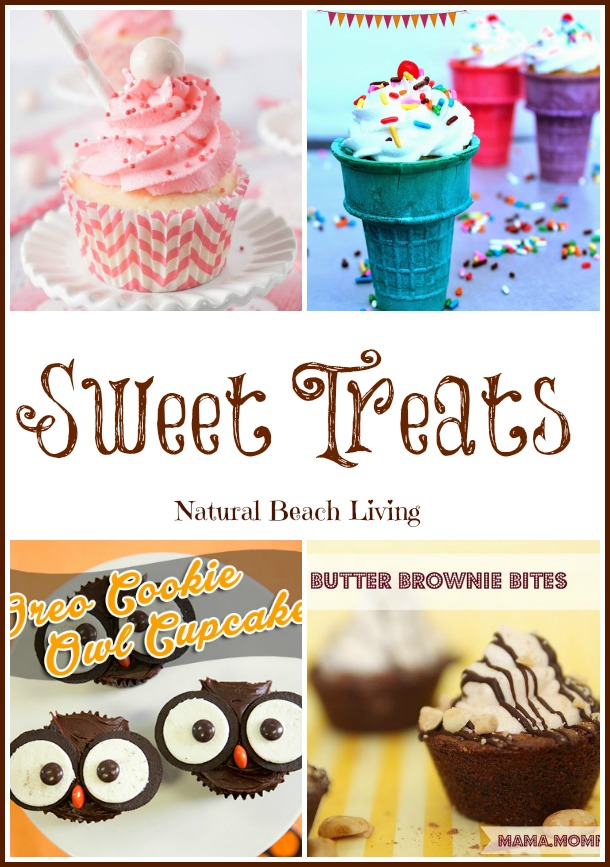 Sweet Treats, cupcakes, delicious desserts, cupcakes for kids, kids snacks, homemade,  www.naturalbeachliving.com