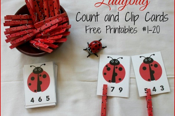 Ladybug Math for Preschoolers (Free Printables Count & Clip)