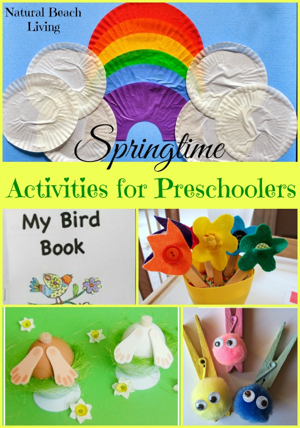 Spring Activities for Preschoolers and Toddlers, Crafts, Easter, Birds, Montessori, Hands on learning, DIY, Rainbows, and more www.naturalbeachliving.com