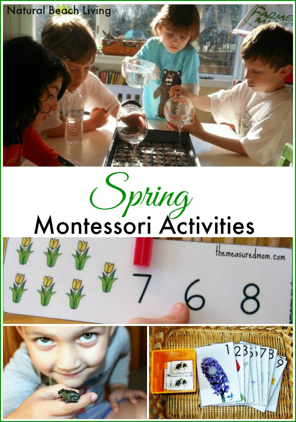 Spring Montessori Activities, Spring Activities for kids, Printables, Nature, Sensory Play, Animals, Birds, Flowers, crafts, www.naturalbeachliving