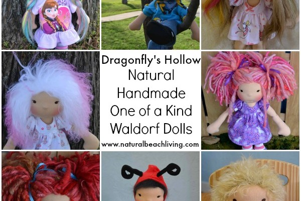 Natural Handmade Waldorf Dolls