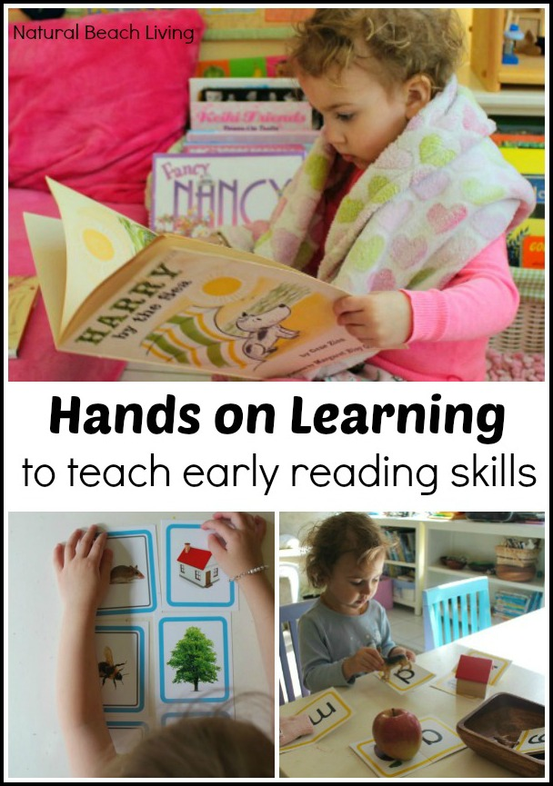 teach reading skills, hands on activities for toddlers and preschoolers