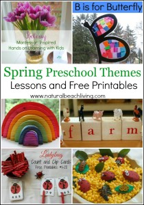 6 Spring Preschool Themes with Lessons and Free Printables