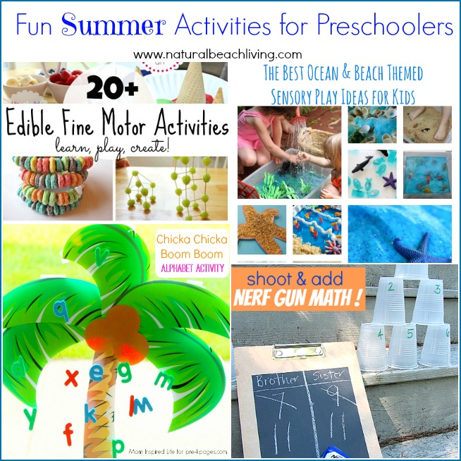 Summertime means fun filled days of play and hands on learning. These activities for preschoolers are perfect to add to your summer bucket list