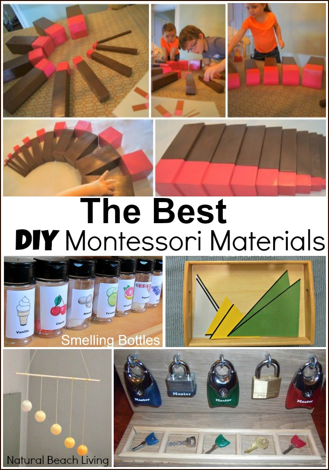 The Best DIY Montessori Materials, Easy Ways to Use Montessori Math on a Budget, DIY, Living Math, Free Printables, Preschool Math, homeschooling on a budget. Montessori education