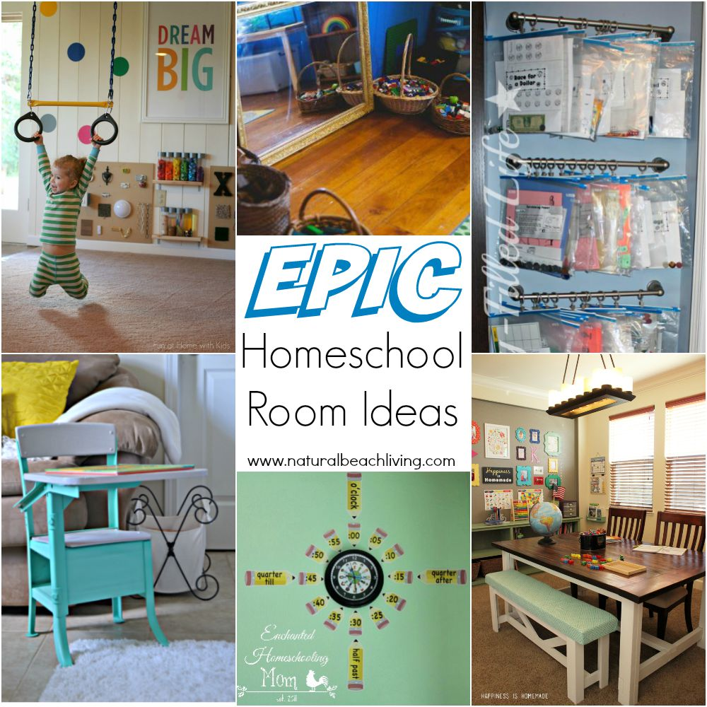 10 epic homeschool room ideas natural beach living - Small space bags ideas ...