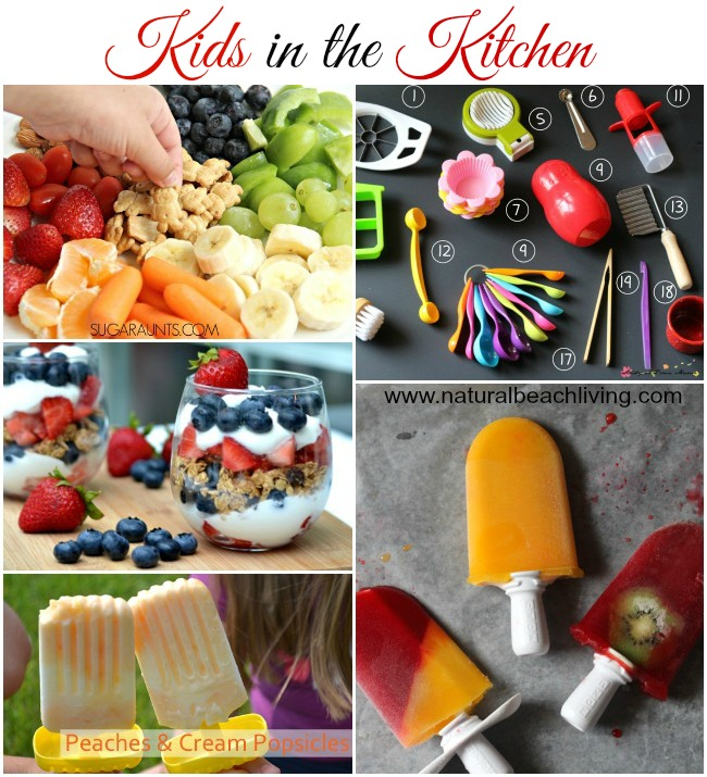 Tips, Ideas & recipes for getting Kids in the Kitchen. Great practical life experience, plus quality time with your kids.You will love these wonderful ideas
