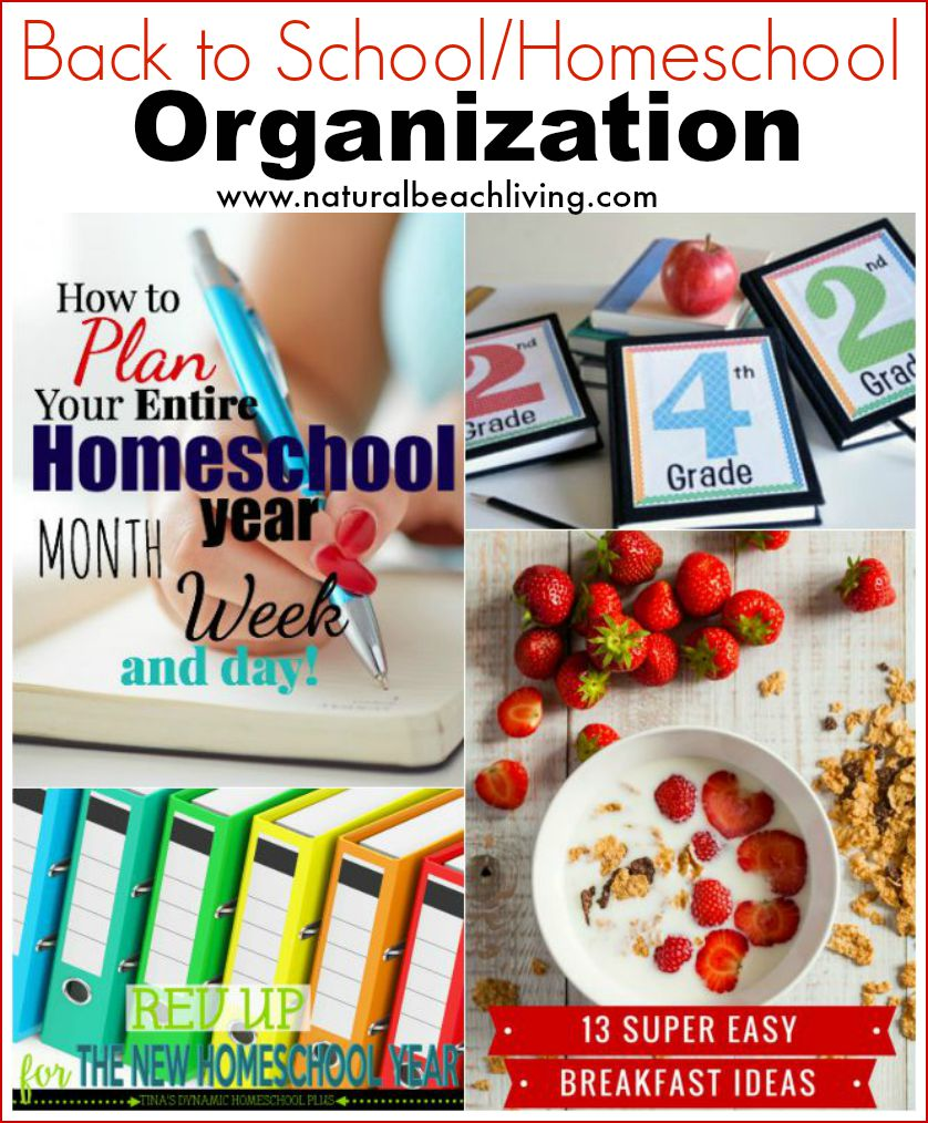 Getting organized and ready for back to school, homeschool tips and back to school tips, easy food for kids, organization, and a PLAN!