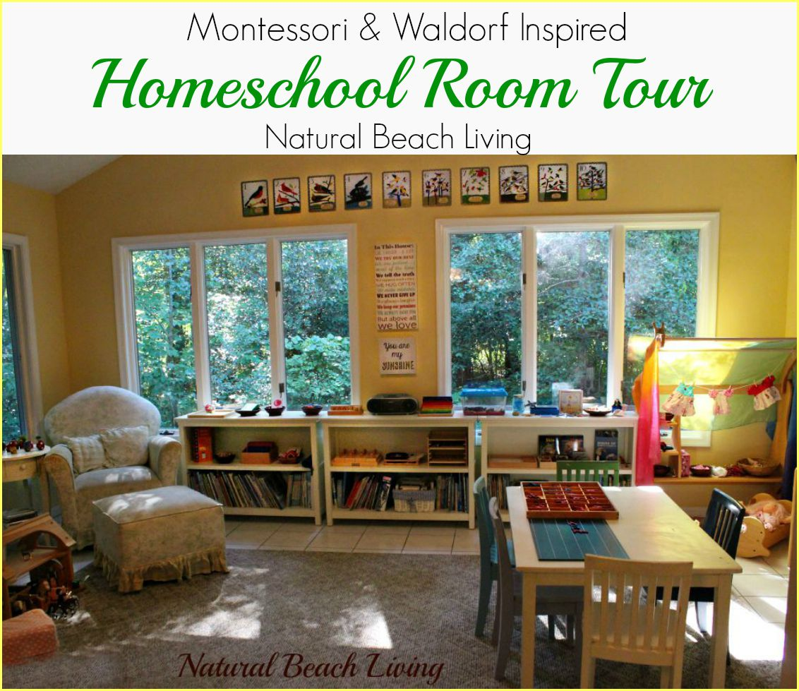 montessori waldorf inspired homeschool room full of natural materials to explore and discover all day